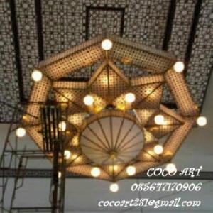 Lampu gantung masjid minimalis tembaga kuningan