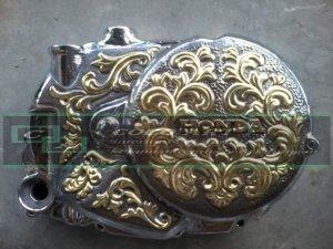 kerajinan tembaga ukir variasi sepeda motor