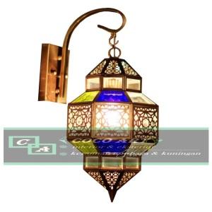 lampu maroko tembaga kuningan